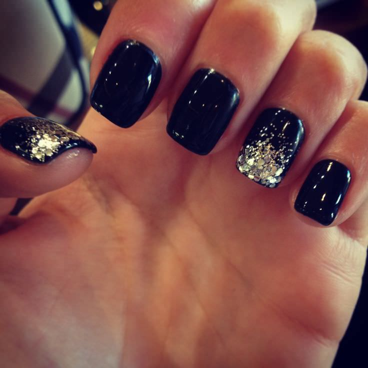 Gorgeous In Black Nail Design