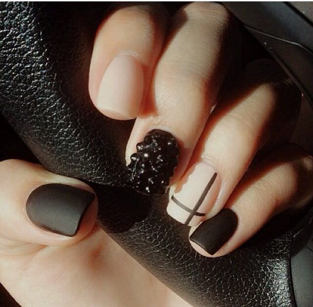 Pure Black Nail Design