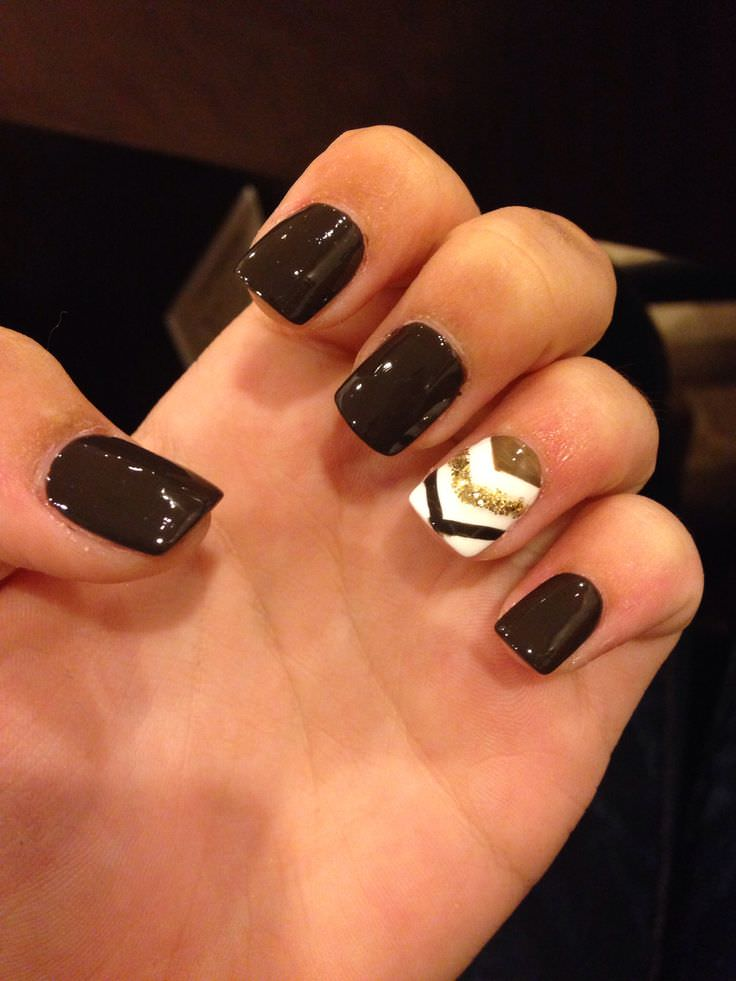 Stylish Black Nail Design