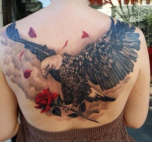 Eagle Tattoo Design For Girl