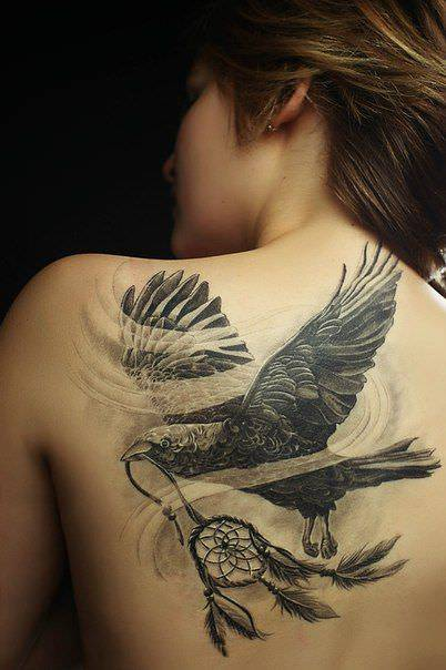 eagle tattoo design on back