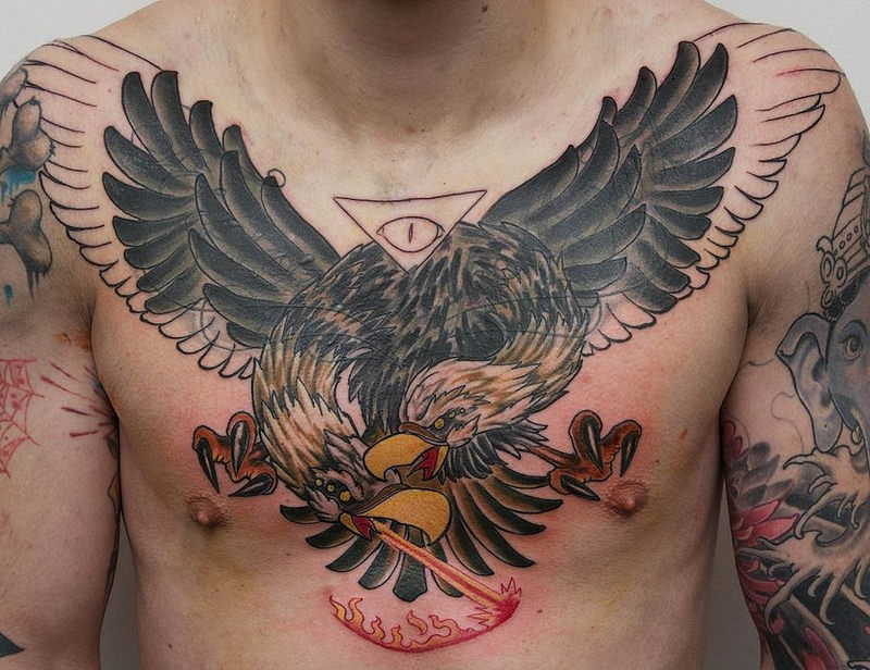 Realistic Eagle Tattoo Design on Shoulder