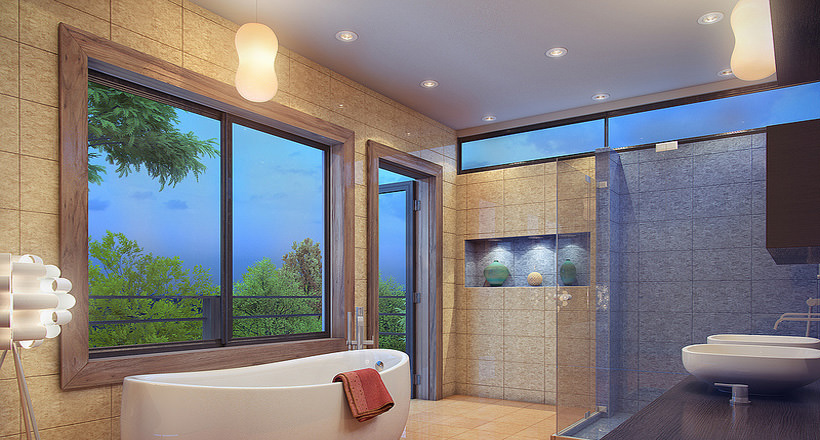 19 Bath Room Wall Tile Designs Decorating Ideas