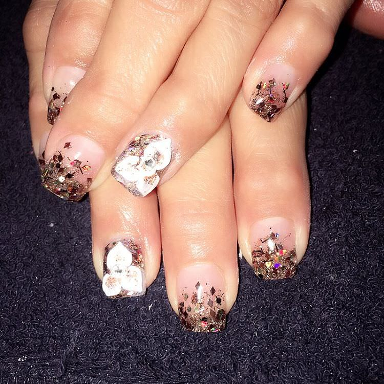 3D Fall Acrylic Nail Design