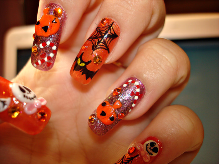 3d Cartoon Acrylic Nail Design