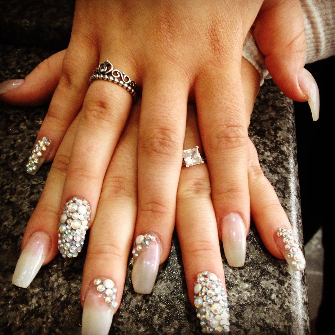 Bling Acrylic Nail Designs