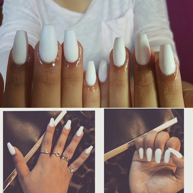 Elegant White Nail Designs