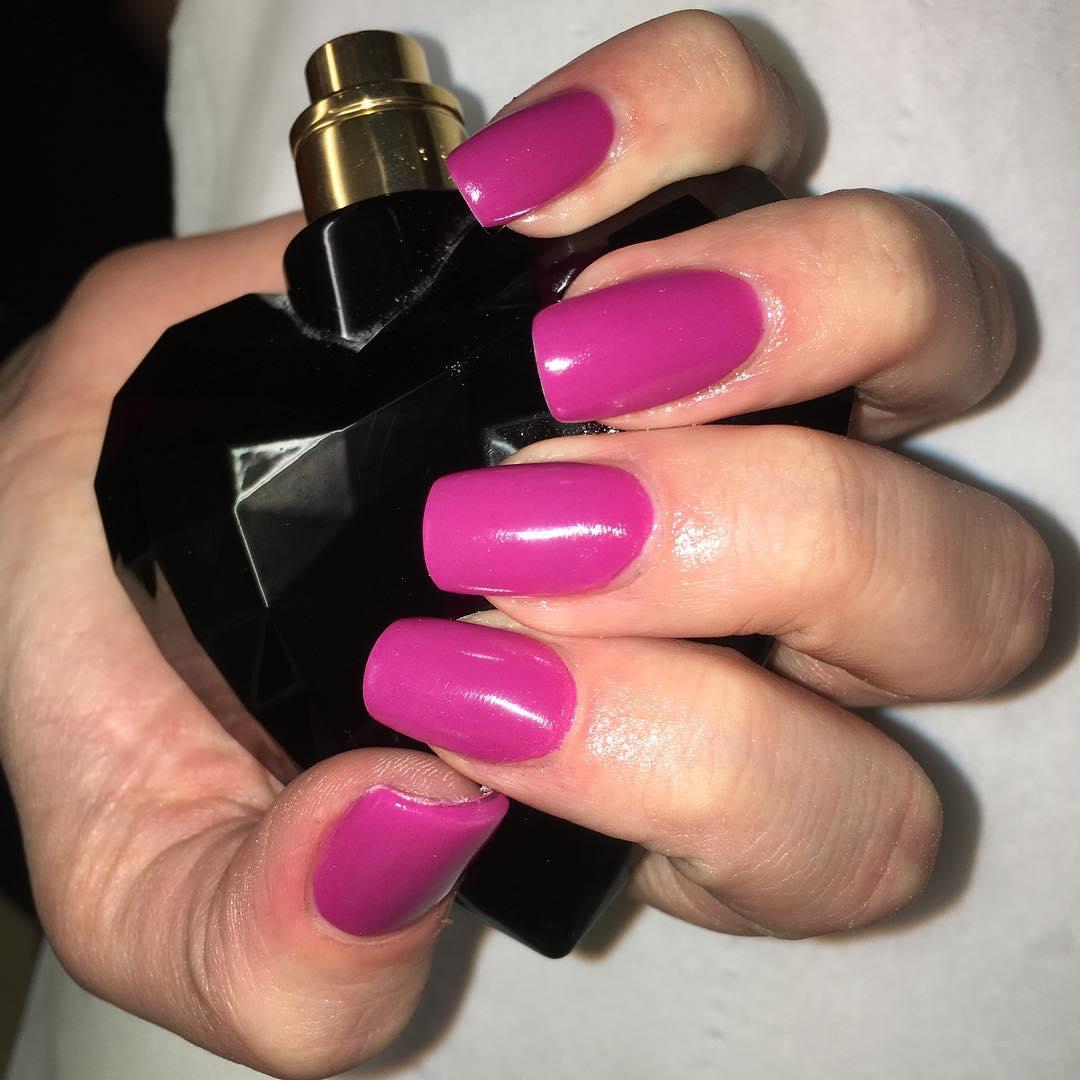 Pink Acrylic Nail Design