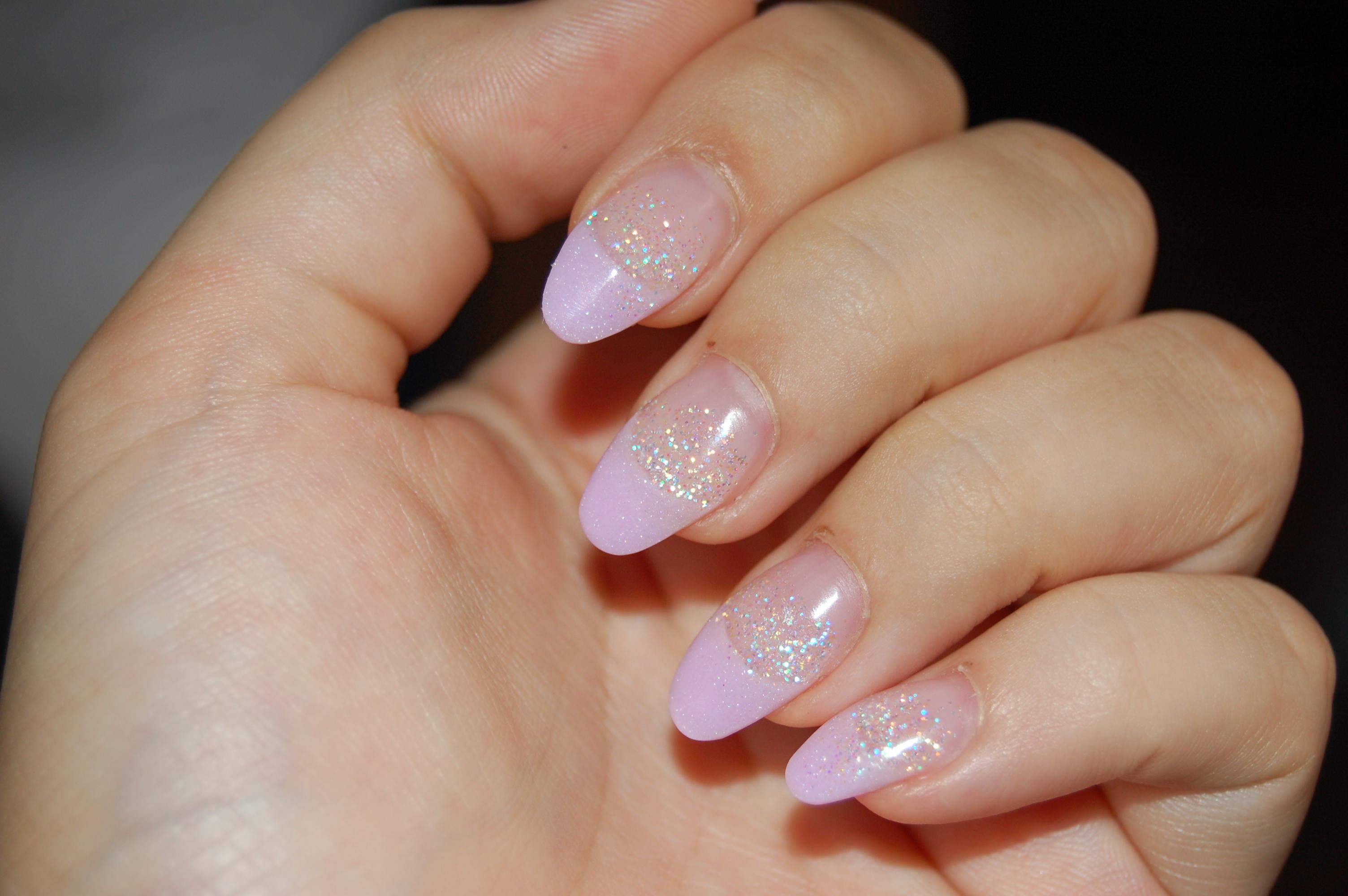 Pink Glitter Acrylic Nail Designs