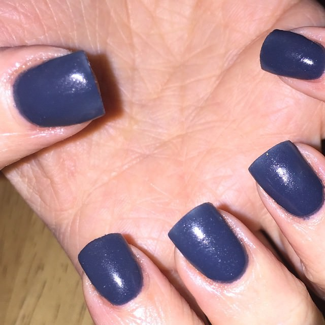 Simple Blue Acrylic Nail Designs
