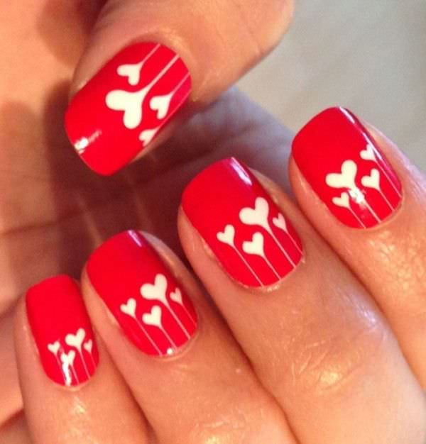 Accent Red Nail Design