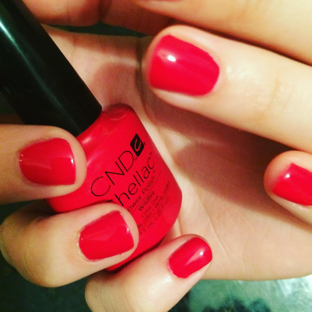 Hot Red Nail Design