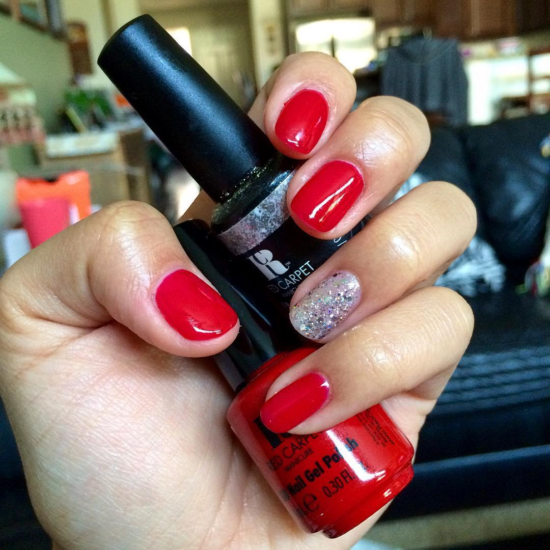 Pretty Red Carpet Nails