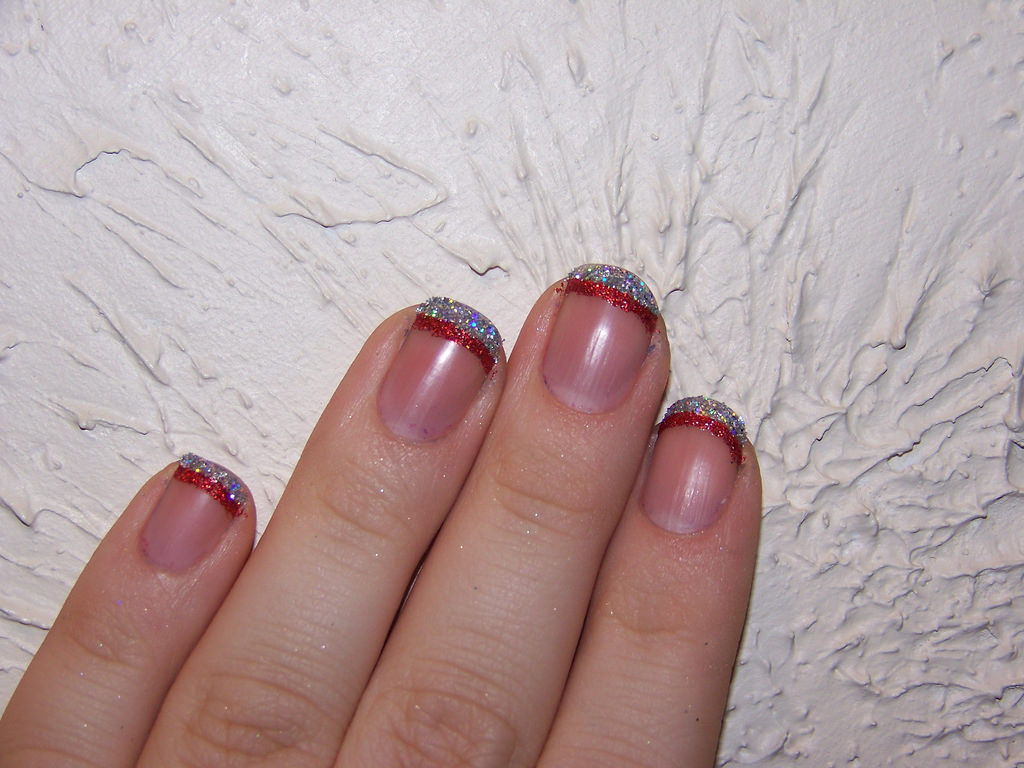 Red and Silver Tip Nail Designs