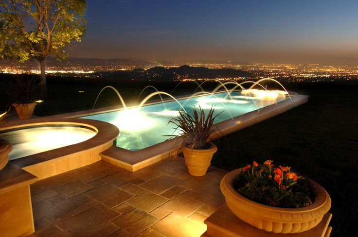 dazzling swimming pool lighting design