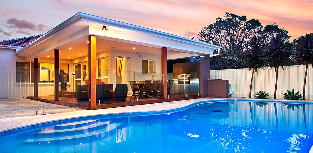 home swimming pool lighting design