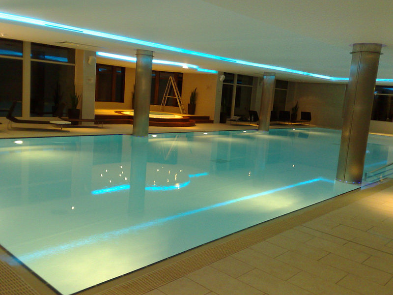 inside swimming pool lighting design