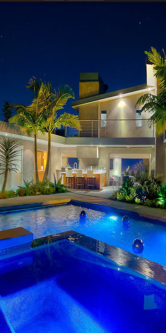 34+ Stunning Swimming Pool Lighting Designs | Home Designs
