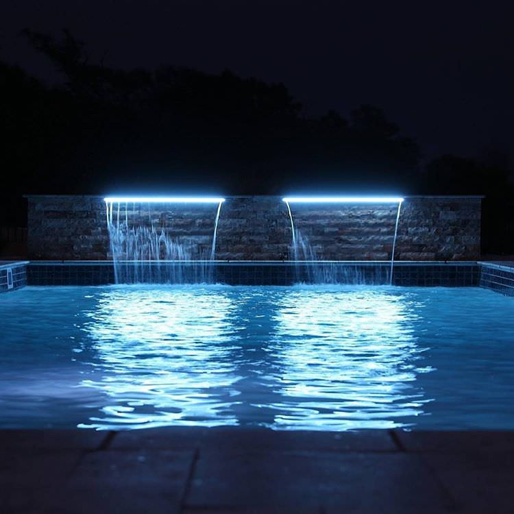 34 Stunning Swimming Pool Lighting Designs Home Designs
