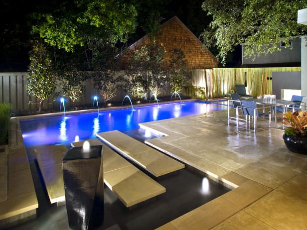 paradise swimming pool lighting design