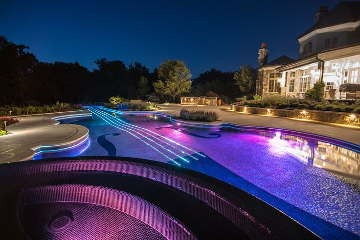 Stradivarius Violin Swimming Pool Lighting Design