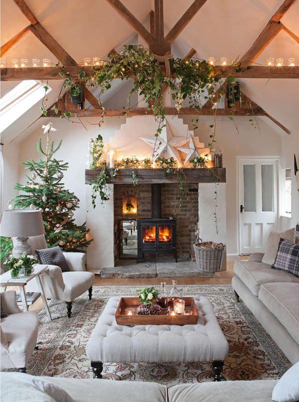 Country Home Living Room Interior Design