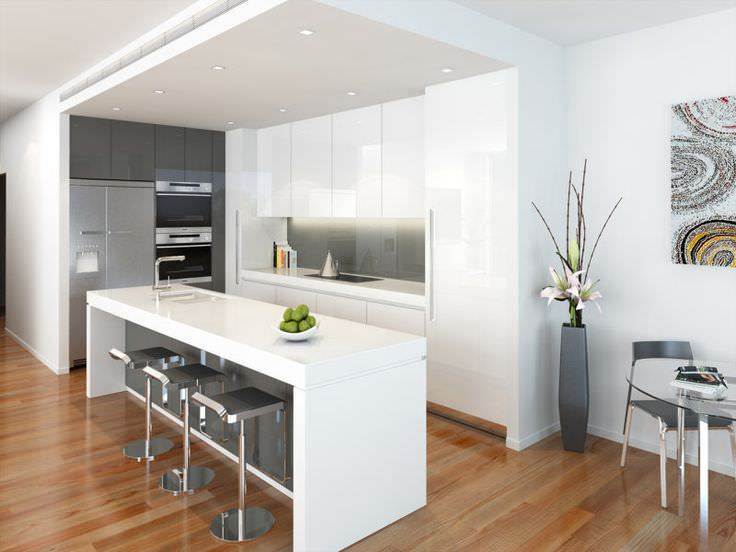 contempory modern kitchen design