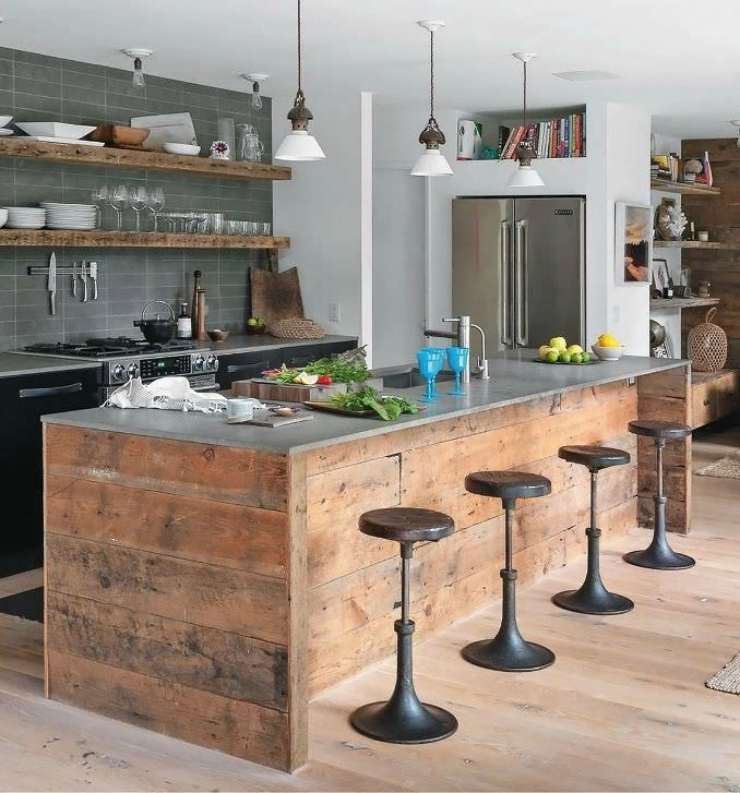 rustic modern kitchen design