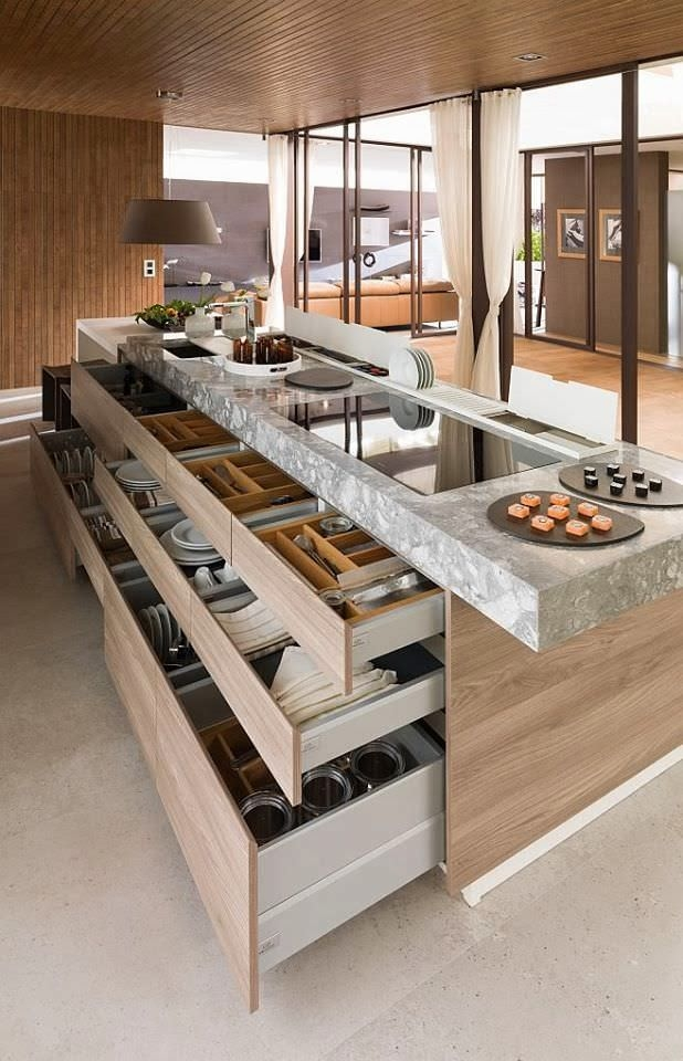Storage Space Modern Kitchen Design