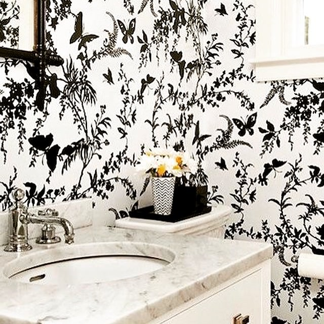black and white wallpaper for bathroom 10 bathroom wallpaper designs bathroom designs design 25149