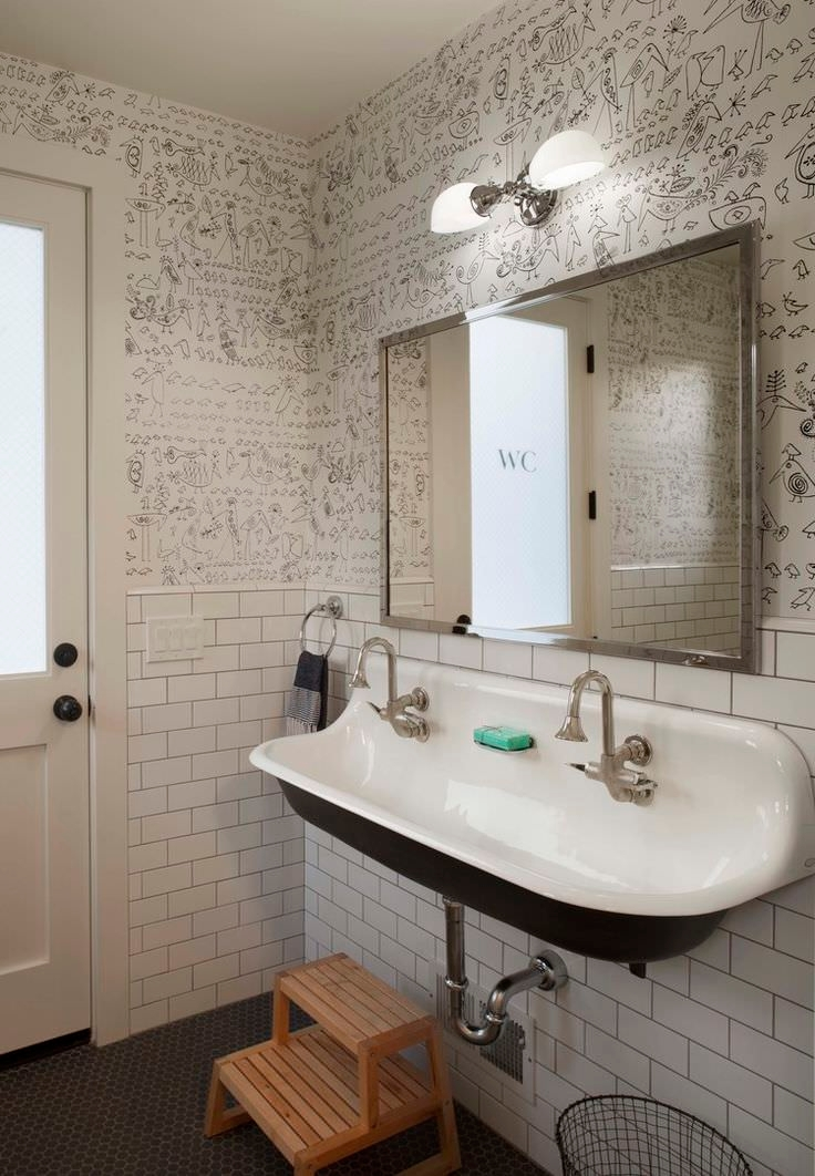 10 bathroom wallpaper designs bathroom designs design best quirky wallpaper design ideas amp remodel pictures houzz