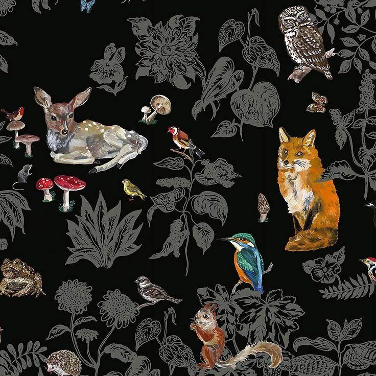 Wild Bathroom Wallpaper Design