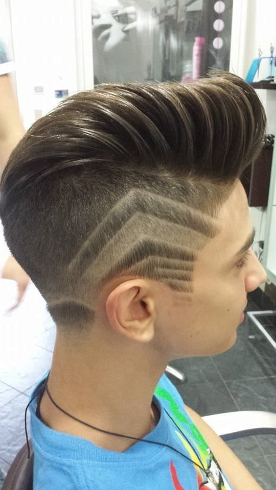 Boys haircuts with lines