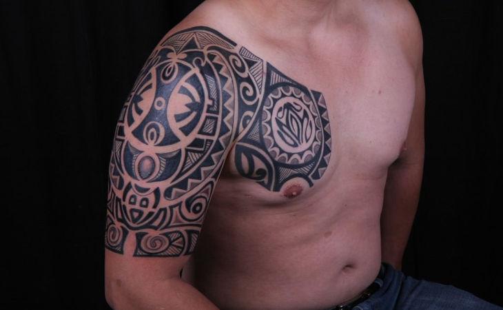 Black Polynesian Tattoo