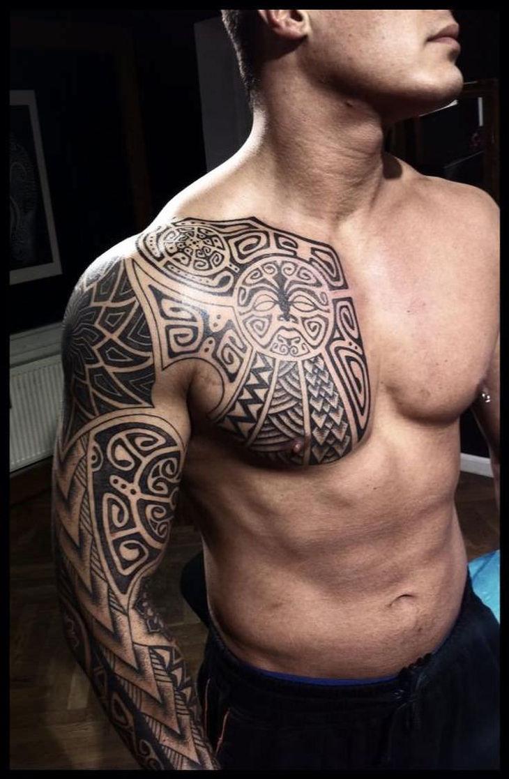 Polynesian Full Sleeve Tattoo