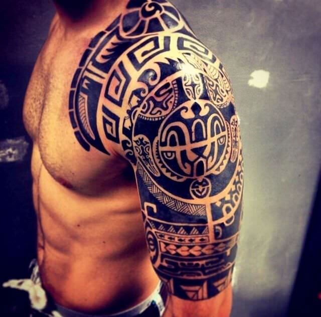 Polynesian Tattoo Design for Arm