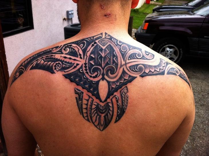 Decorative Back Tattoo