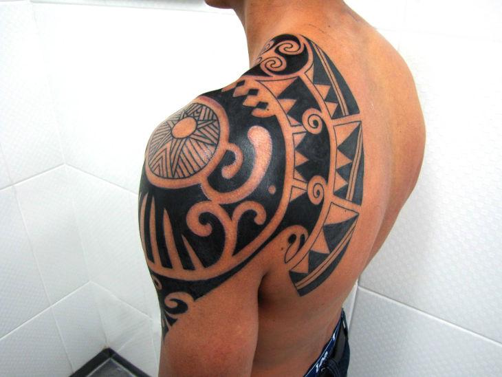 Awesome Polynesian Tattoo