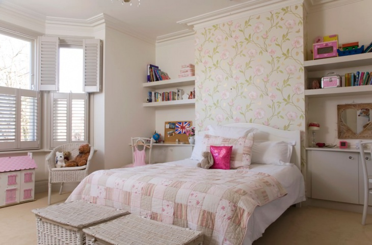 girls bedroom floral wall decor