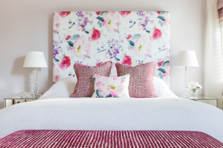 Floral Bed Headborad Design