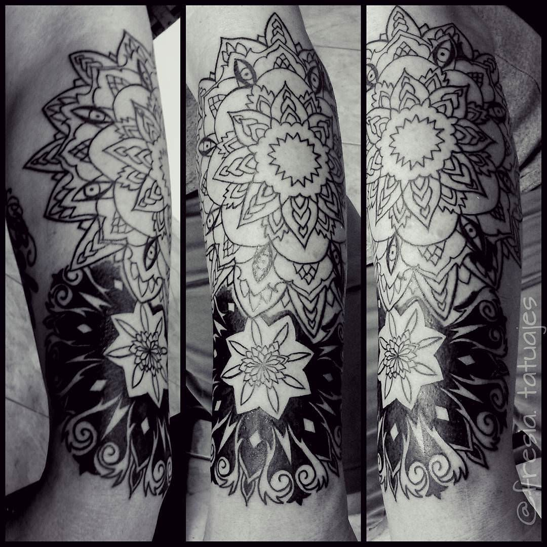 Inked Mandala Arm Tattoo