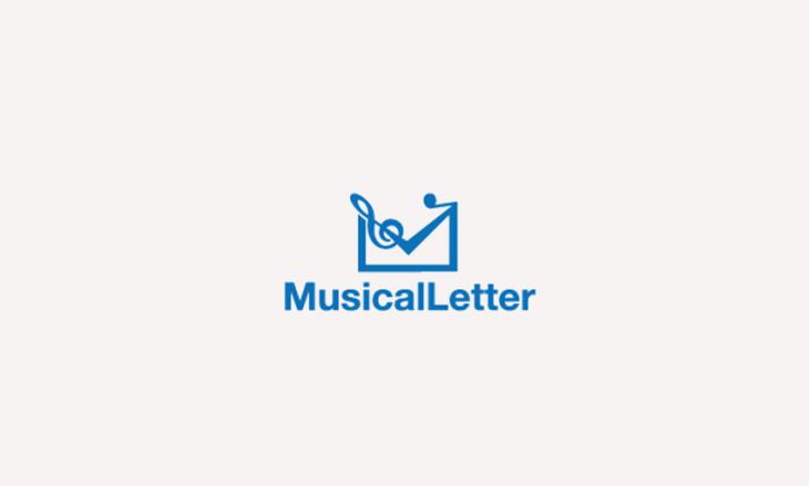 musical letter logo design