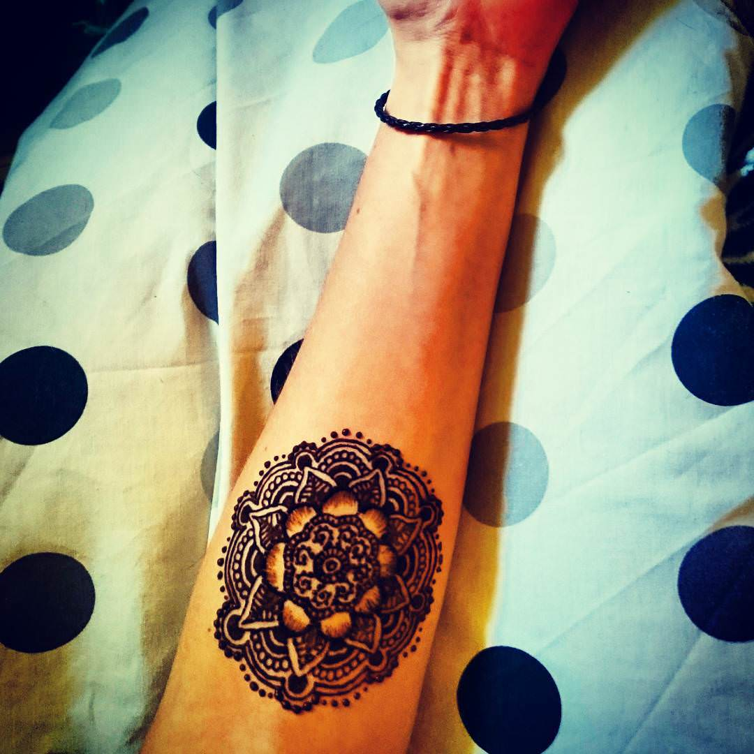 Colorful Mandala Arm Tattoo