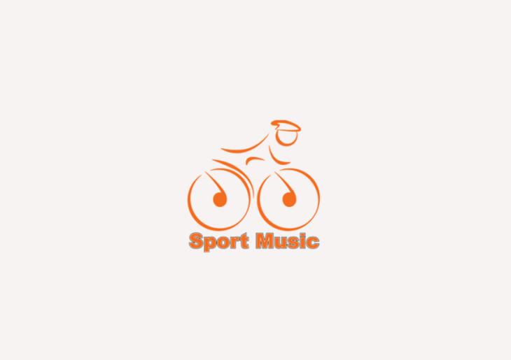 sport music logo design