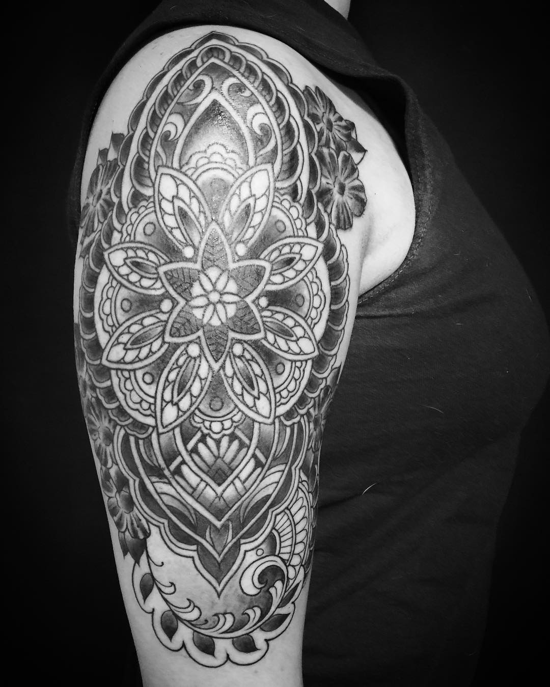 Mandala Tattoo on Arms