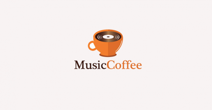 musical logo for coffee store