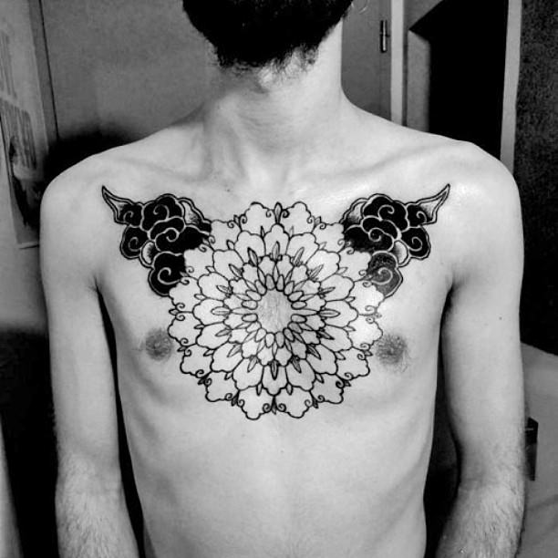 Big Mandala Tattoo on Chest