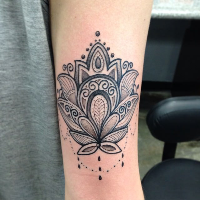 Lotus Mandala Tatto on Wrist