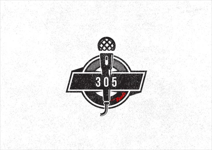 musical logo design for band