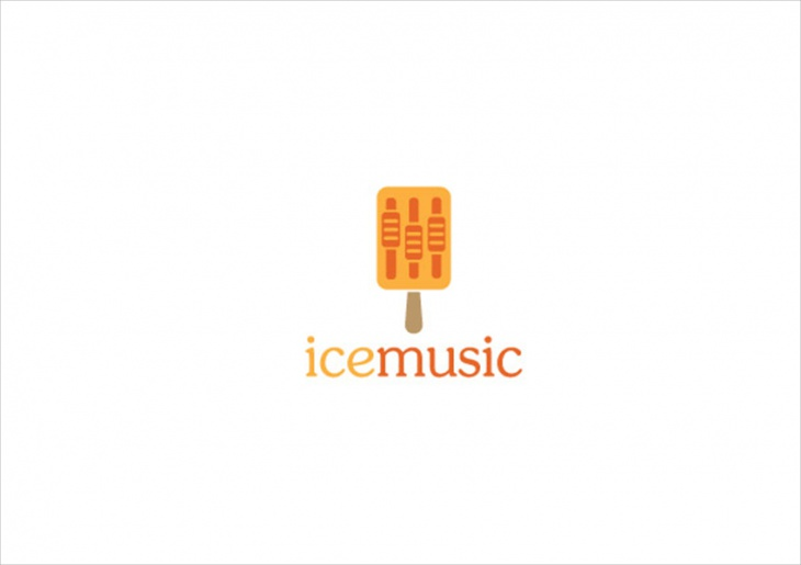 Ice Music logo Design